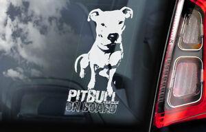 Pitbull-On-Board-Auto-Finestrino-Adesivo-Fossa-Bull-Terrier-Cane-Insegna