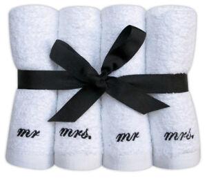 Lot-de-8-Carres-eponge-Ensemble-Cadeau-Mr-amp-Mrs-brode-doux-flannels-100-coton