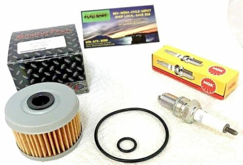 Honda TRX300 FourTrax 300 Oil Filter /& Spark Plug  /& Cover O-Rings Set 1988-2000