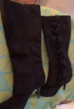 94eab48c14a5 Size 7 Fergalicious by Fergie Epic Black Wedge Knee High BOOTS ...