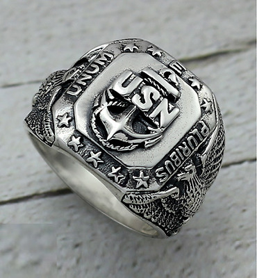 Republic Eagle 8.5 Mens Ring Sterling Silver