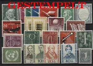 Germany-Federal-Frg-vintage-yearset-1955-Postmarked-Used-complete