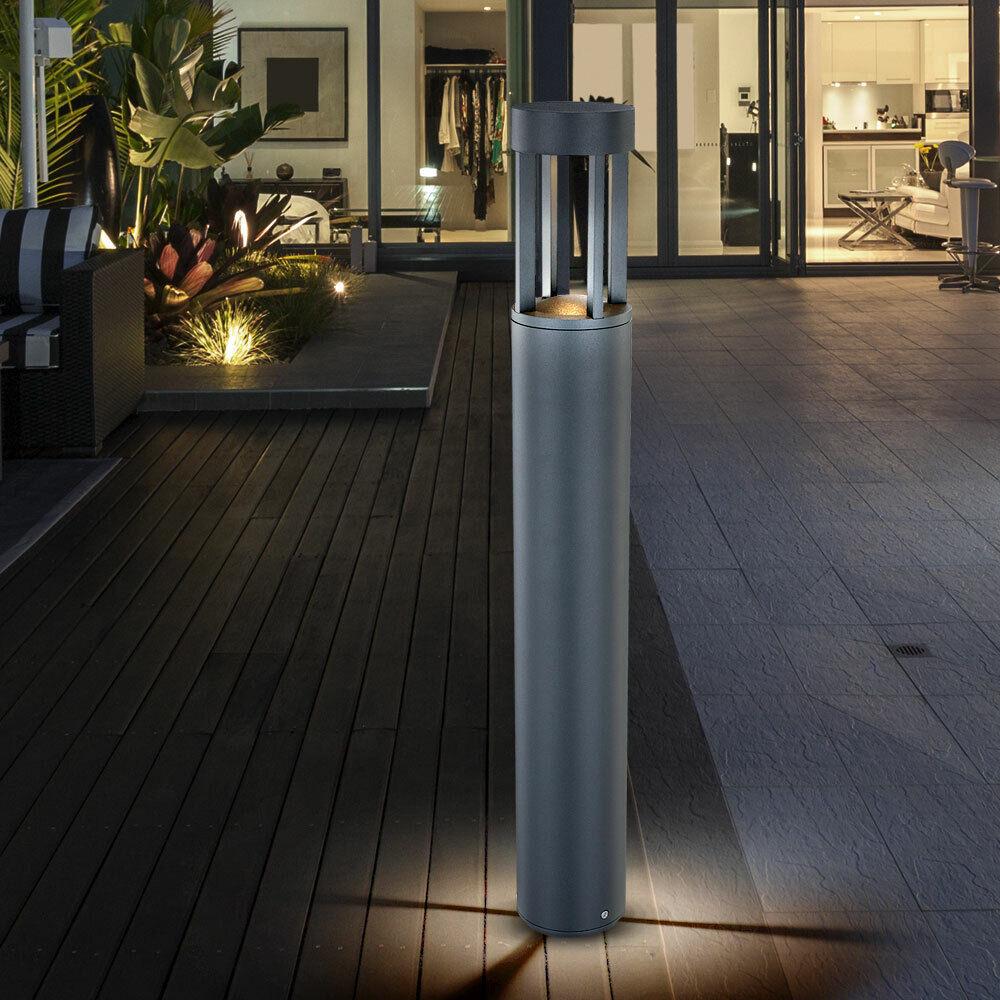 6 Watt LED Lumière Extérieure A Estrella Jardin Lampadaire Lampe Aluminium gris