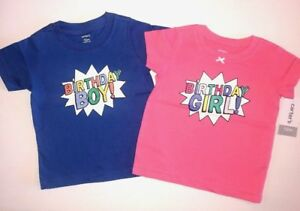 90b098bdc Carter's $24 First Birthday T-shirts 12m Outfit Girl Boy Twins Pink ...