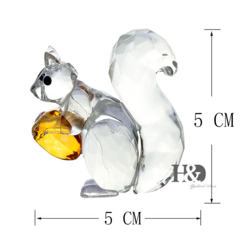 Clear Crystal Paperweight Facet squirrel Figurines Glass Wedding Ornaments Gift