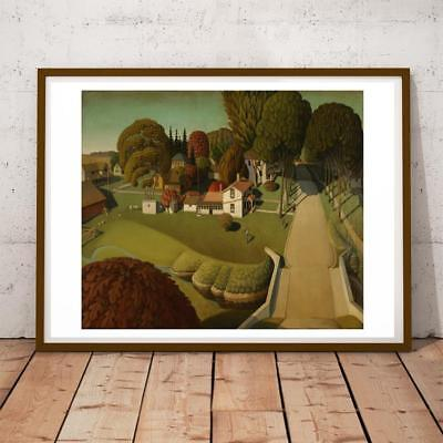 GRANT WOOD BIRTHPLACE OF HERBERT HOOVER ART PRINT POSTER PICTURE LF240