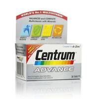 Centrum Advance Multivitamin/Multimineral 30 Tablets