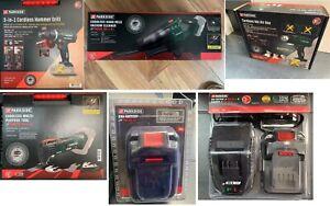 Parkside Cordless 20V Combi Hammer Drill, Multi Tool, Heat Gun, Hoover, Battery