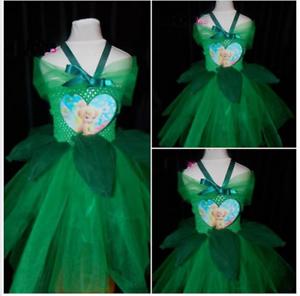 Fairy Tutu Dress 2-10 Fancy dress Inspired Tinkerbell costume handmade