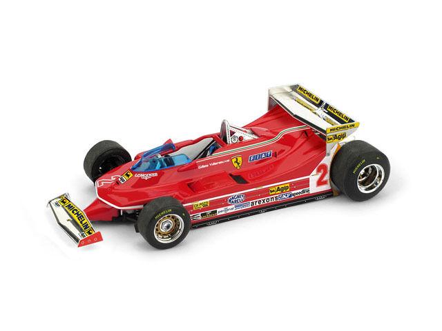 Ferrari 312 T5 G. Villeneuve 1980 th Monaco GP 1 43 Model R577 BRUMM