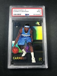 2003-04-Carmelo-Anthony-Fleer-E-X-Rookie-RC-73-Acetate-PSA-9-Mint