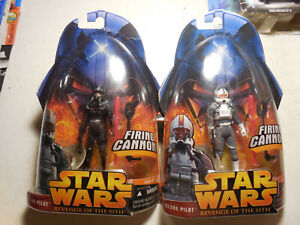 Star Wars Revenge Of The Sith Figures Clone Pilot Regular Variant Lot 2 Free Shp Ebay