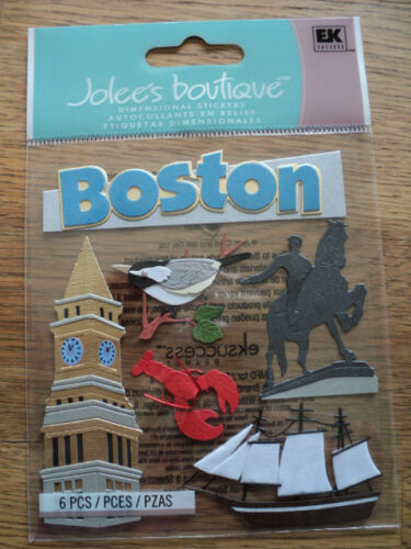 EK SUCCESS JOLEE/'S BOUTIQUE BOSTON DIMENSIONAL STICKERS BNIP