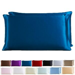 100-Pure-Silk-Comfortable-Anti-Ageing-Cushion-Cover-Pillowcase-Perfect-Solid