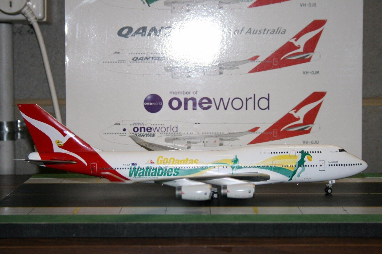 JC Wings 1 200 Qantas Boeing 747-400 VH-OJO  Go Wallabies  (XX2230) Model Plane