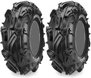 Pair-2-Maxxis-Mudzilla-28x10-12-ATV-Tire-Set-28x10x12-28-10-12