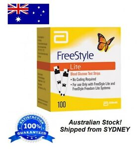 Freestyle-LITE-Blood-Glucose-Diabetes-100-Test-Strips-SYDNEY-STOCK