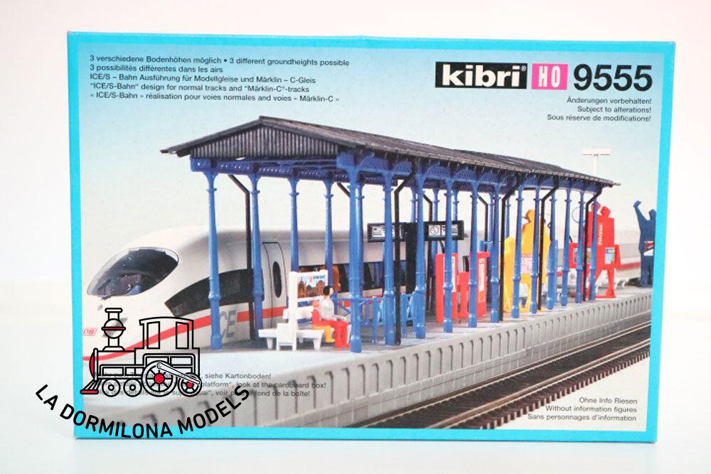 KIBRI 9555 H0 APEADERO CUBIERTO de ESTACION 73cm. - NUEVA A ESTRAR