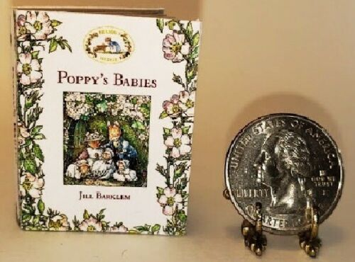 1:6 SCALE MINIATURE BOOK POPPYS BABIES BRAMBLY HEDGE PLAYSCALE BARBIE