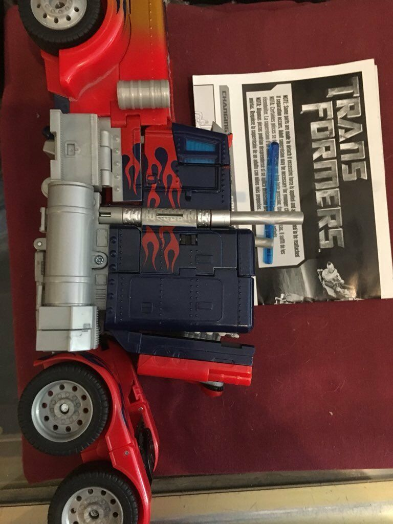 Optimus Optimus Optimus Prime 2006 Leader class movie bayverse with missile instructions. a87a59