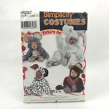 Simplicity 0652 Children Costume Bunny Monkey Mouse Dog Size .5 4 Uncut Pattern