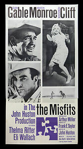 THE MISFITS MOVIE POSTER Marilyn Monroe RARE VINTAGE