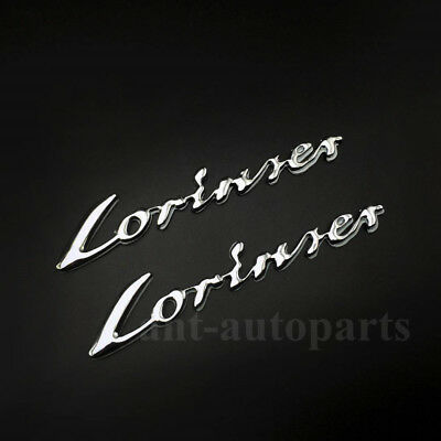 Lorinser Car Badge Trunk Rear Emblem Decal Sticker
