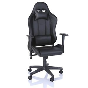 racing chefsessel gaming b rostuhl drehstuhl schreibtischstuhl schwarz ebay. Black Bedroom Furniture Sets. Home Design Ideas