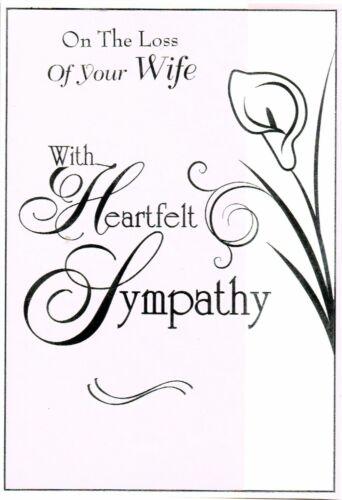 Femme de sympathie Carte sincère sympathie Simple Élégant Carte