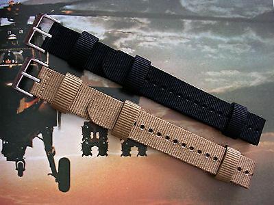 NATO G10® Aviator™ XL Military watchband strap HD Nylon UTC RAF stitch IW SUISSE