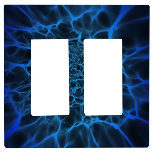 Blue Plasma Light Switch Cover Cabinet Knob Night Light Outlet Home Decor