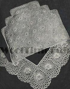 Vintage Crochet Pattern Tea Cosy And Lace Edging Irish Crochet