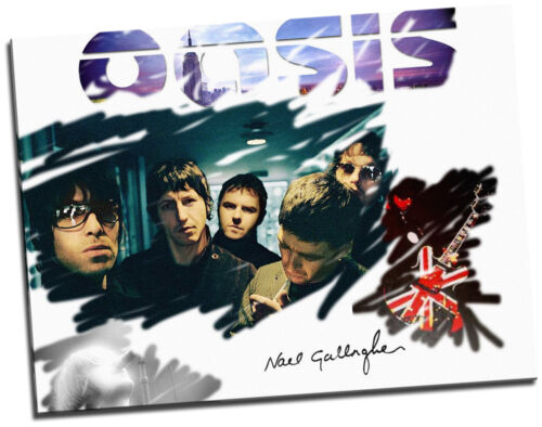 Oasis bande collage giclee toile photo mur art