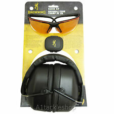 Browning Sporting Clay and Game Shooting Safety Glasses and Ear Muffs Range Kit