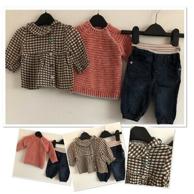 New Baby Toddler Jumper Size 0-3 Months By Mamas and Pappas Sweater Cardigan...