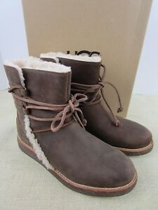 88a4f5e10a6 Details about UGG LUISA 1012545 CHO WOMEN'S CHOCOLATE BROWN LEATHER WINTER  BOOTS NEW IN BOX