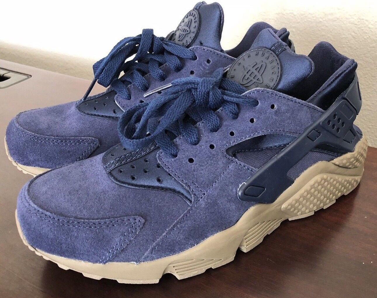 Nike Air huarache 7,5 Run PMR se tamaño: 7,5 huarache 852628-400 Binary azul oscuro m nueva marca 4ad66a