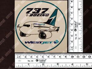 WESTJET-WEST-JET-BOEING-B737-B-737-PUDGY-DECAL-STICKER-3-5x3-5-in-9x9-cm
