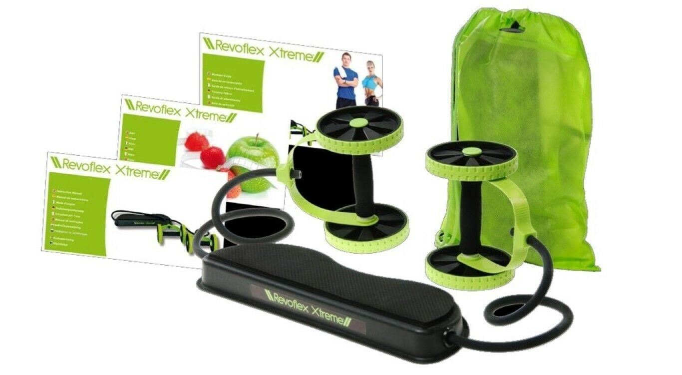 FITNESS REVOFLEX XTREME POWERFUL WORKOUT KIT RESISTANCE EXERCISE EQUIPMENT SET