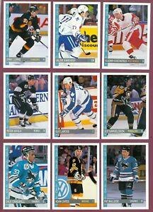 1992-93 OPC O PEE CHEE HOCKEY CARD 265-396 & ANNIVERSARY SERIES WRAPPER SEE LIST