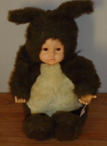 Anne Geddes SQUIRREL Girl Doll plush 1998 brown & tan 16