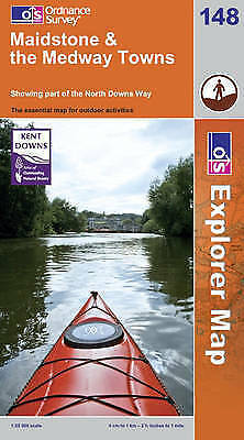 Maidstone and the Medway Towns by Ordnance Survey (Sheet map, folded, 2008)
