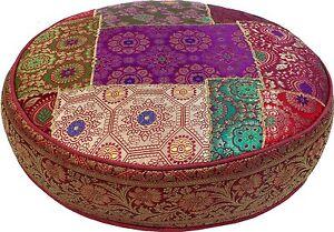 Bodenkissen patchwork sitzkissen auflage kissen rund sofa orientalisch bunt 40 ebay for Sitzkissen orientalisch
