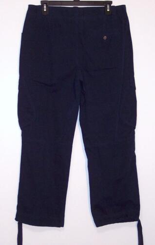 NWT American Living Mid Rise 100/% Cotton Cargo Crop Capri Pants 4 8 Navy