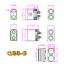 5-Paar-Hochstrom-QS8S-QS8-EC8-EC8S-Goldstecker-Stecker-Buchse-180A-Antiblitz-RC Indexbild 2