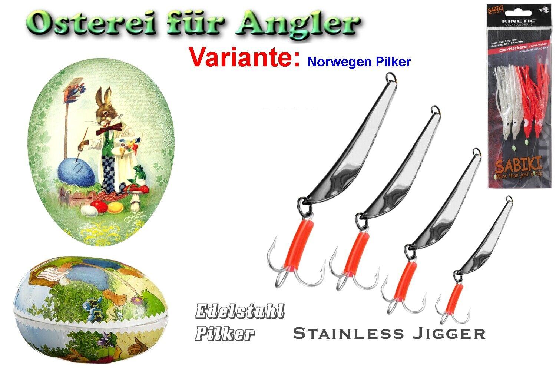 Füllbares di cartone-Pasqua variante  norwegenpilker (acciaio inox)