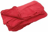 1350 Industrial Shop Rags / Cleaning Towels Red Large 14x14 Special Sale on sale