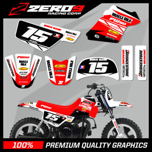 Details about YAMAHA PW50 CUSTOM MX GRAPHICS MOTOCROSS GRAPHICS TEAM ISSUE  WHITE / RED