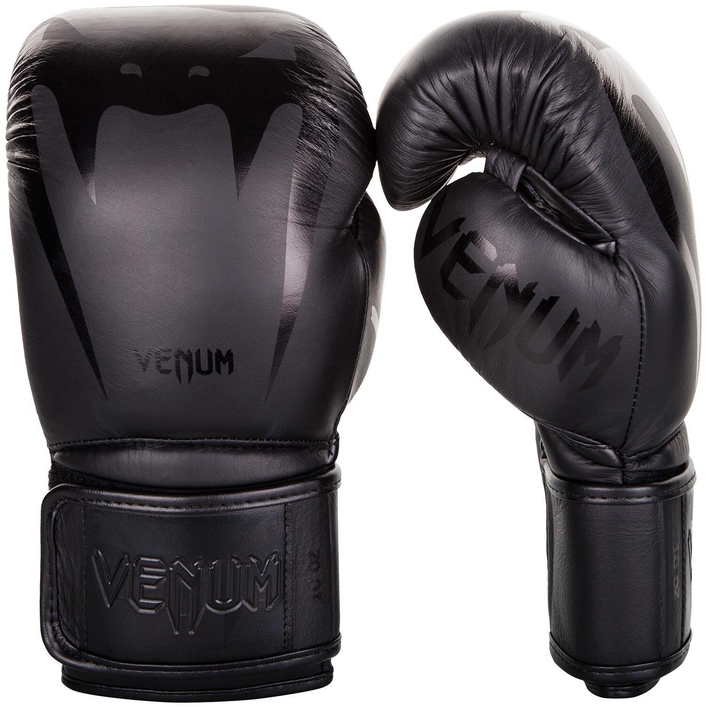 Venum Giant 3.0 in Pelle Nappa Guantoni Da Boxe Sparring Muay Thai NeroNero