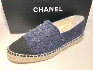 Chanel Classic Denim Blue/Black CC